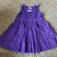 Vintage Cabbage Patch Kids Girls Purple Corduroy Dress No Size Tag 3T 4T 5T