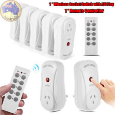 Wireless Control Mains Switch 5 Outlet Power Point Socket & 1 Remote Control