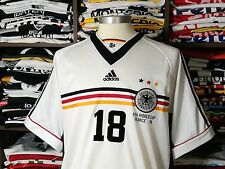 GERMANY home WorldCup 1998 shirt-KLINSMANN #18-Bayern-Tottenham-Trikot-Jersey(L)