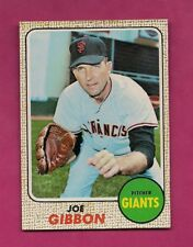 1968 TOPPS # 32 GIANTS JOE GIBBON  NRMT+  CARD (INV# A4847)