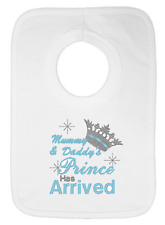 Mummy and Daddy's Prince has Arrived Embroidered Bib by Daisy Chain Embroidery
