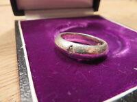 Top 925 Sterling Silber Ring Designer Esprit Solitär Funkelt Wie Ein Diamant 1A