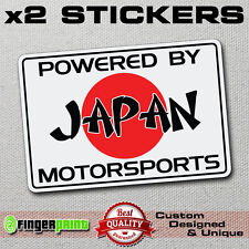 POWERED BY JAPAN MOTORSPORTS sticker decal vinyl JDM honda toyota mazda nissan