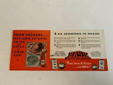 Vintage Basic Vegetable Products Co Vacaville CA Ink Blotter