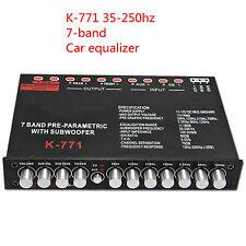 7-band Pre-parametric W Subwoofer Car Equalizer Audio EQ Tuner Crossover Car