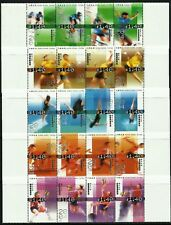 Hong Kong 2004 Olympic Games Athens Sports set of 20 in 5 strips of 4 MNH