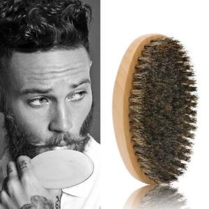 1pc Soft Boar Bristle Wood Beard Brush Hairdresser Shaving Tool Men Mustache  CL
