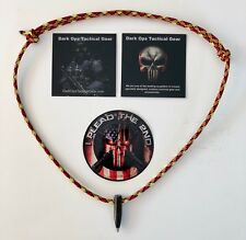 Black Ops..Sniper HOG Tooth .30 Cal. Paracord Necklace +1 Decal Red/Yellow/Black
