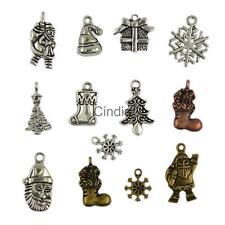 24pcs Mixed Metal Christmas Symbols Pendant Charm Jewelry Finding DIY Crafts