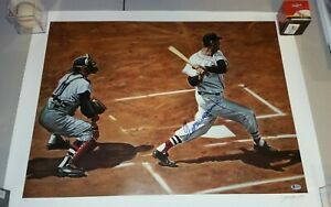 Ted Williams Boston Red Sox Signed litho by Andy Jurinko 194/600 w/Beckett LOA