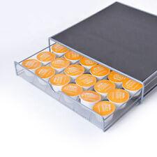 36 K Cup Holder Rack Storage fits Keurig Coffee Pod Chrome Drawer Organizer Mat