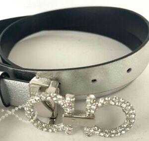 Salvatore Ferragamo Gancini Black/Silver Reversible Belt 110cm $495.00 #709STN