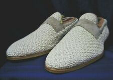 Kiton Shoes $1,550 Beige Hemp Nappa Leather Slip On Loafer 8