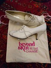 Beyond Skin Vegan heeled shoes white faux leather 6 UK 39 EU 8 US