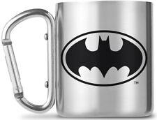 More details for batman carabiner mug - logo metal camping cup official new