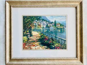 "Howard Behrens ""Sunlight Stroll"" Hand Embellished Signed and Framed Art Piece"