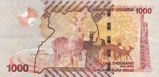 1000 SHILINGS VERY FINE BANKNOTE FROM UGANDA 2010 PICK-49