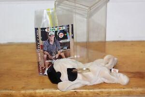 TY Beanie Baby PUGSLEY Card BRAVES Greg Maddux #03247 Commemorative & Case