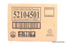 LOT OF 6 Okifax Toner Cartridge Kit 52104501 Okidata Black GENUINE