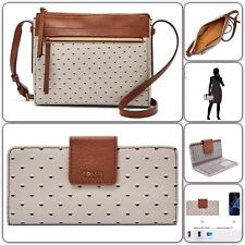 NWT FOSSIL FELICITY CROSSBODY & MADISON SLIM CLUTCH COLOR : DOT $98+60