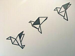 Geometric Flying Bird Three Pack Wall Art Decor Hanging Decoration
