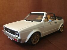"Volkswagen Golf 1 cabriolet version ""tuning"" blanche 1/18 (Solido - unique)"