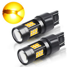 2x T20 7443 OSRAM 27 3030 SMD Amber Orange Car LED Turn Signal Light DRL Light