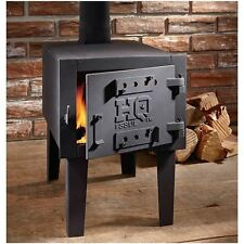 Outdoor Wood Burning Stove Small Fireplace Steel Heater Burner Pipe Camping Cook