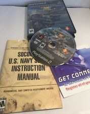PlayStation 2 SOCOM II U.S. Navy Seals Video Games Play Station PS2 w Manual