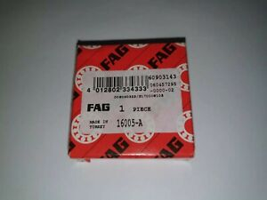 FAG 16005-A Deep Groove Ball Bearing 25 x 47 x 8 mm Open