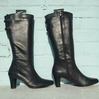 NEW JONES the BOOTMAKER Leather Boots Size Uk 7 Eur 40 Womens Teagun Black Boots