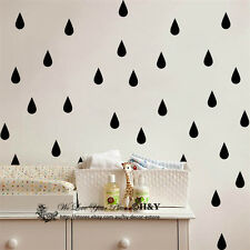 Set of 57 Pcs Rain Drops Wall Decal Removable Stickers Kids Nursery Art Mural