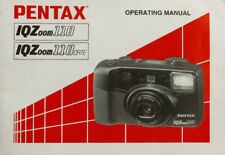 201172 PENTAX IQ-ZOOM 110  ORIGINAL OWNER INSTRUCTION MANUAL USED IQZOOM