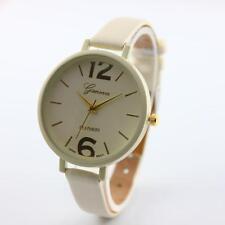 Geneva Women Faux Leather Analog Quartz Wrist Watch Watches Wristwatch Women's