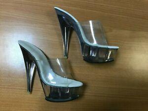 Maya Star Clear Women's High Heels Stiletto Pole Dancing Shoes 5250 UK Size 3