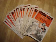 Stoke City Home Teams S-Z Football Programme Collections/Bulk Lots