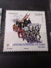 FRANCE 2011, timbre 4582 SAPEURS-POMPIERS, CHEVAUX, neuf**, MNH FIREMAN