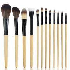 (High Quality) 12 Pcs Professional Soft Cosmetic Black Makeup Brushes Set MA97