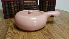 Russel Wright Steubenville Pottery - Coral Rose Handled Covered Casserole
