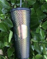 New Starbucks Black Studded Tumbler 2020 Iridescent Fall Holographic Venti Cup