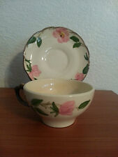 Franciscan Desert Rose Coffee or Tea cups and saucers 14pc set made in USA