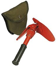 "Rothco Orange Mini Pick and Shovel With Carry Case - 10"" Compact Outdoor Tool"
