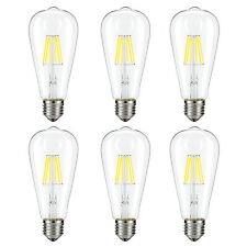 6x 6W Dimmable Vintage Edison LED Bulb Filament Light Bulb 4000K Natural White