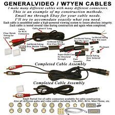 YAESU ICOM KENWOOD ETC. KEYING CABLE. A MINI-DIN OR A DIN CONN, TO RCA, NO ALC