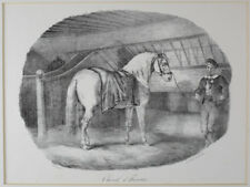 Theodore Gericault  (French 1791-1824) Cheval d' Hanoure Lithograph on wove
