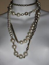 GERARD yosca Latón Cadena Perlas cristal en capas Collar de tendencia