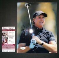 PHIL MICKELSON PGA CHAMPION / US OPEN  SIGNED 8X10 PHOTO JSA COA H84297
