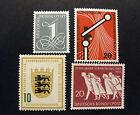 "GERMANIA ,GERMANY ,BUND 1955 "" Lotto di 4 Valori "" 3 set completi MNH**/MH*"