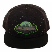 OFFICIAL RICK AND MORTY SPACESHIP GALAXY PRINT BLACK SNAPBACK CAP