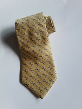 Brooks Brothers Makers Necktie Yellow Navy Links Career Silk Tie 60.5 x 3.7